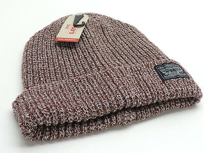 5248a27b MENS -LEVI'S Knit Cuff Beanie, Size : One size , color: Burgundy& ...