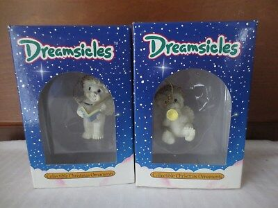 Lot of (2) 1994 DREAMSICLES Cast Art Collectible Christmas Ornaments Cherubs