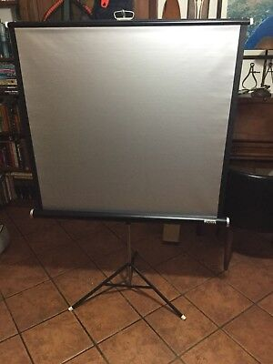 """Vintage Montgomery Ward Silver Made For Color Slide & Movie Screen 40"""" X 40"""""""