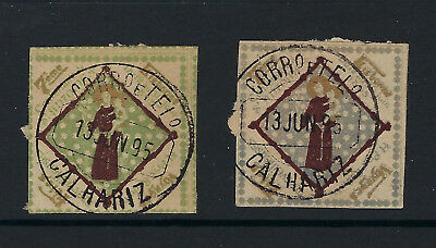 Portugal 1895 St Anthony 2 nice Cinderellas / poster stamps - scarce