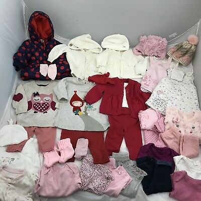 Baby Girl Clothing Bundle x34 Items 0-3months Winter Clothing Christmas Outfits