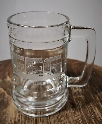 2001 LOCKHEED MARTIN 16 oz FFG MK41 US NAVY Etched Beer Glass Stein Mug