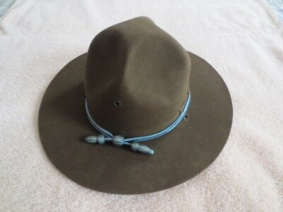 WWII US Army Enlisted Campaign Hat With Cords