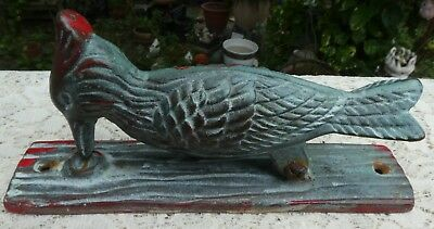 Painted Brass Vintage Woodpecker Door Knocker Not Cast Iron