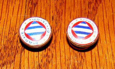 Pair Original WWII US ARMY 3rd Infantry Division Enamel Buttons (Marne)