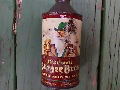 Burger brau Cincinnati cone top beer can