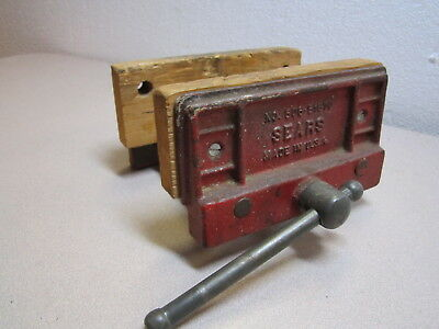 Vintage Sears 6 Woodworker Bench Vise Cast Iron Made In U S A Model