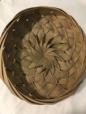 Caribbean Hand Made Woven Palm Frond Basket