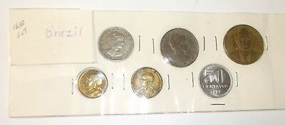 1939-1957 Assorted Coins from Brazil Reis & Centavos Six Coin Lot