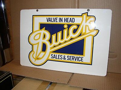 Vintage Buick Advertising Car Dealer Sales Service Sign Double Sided