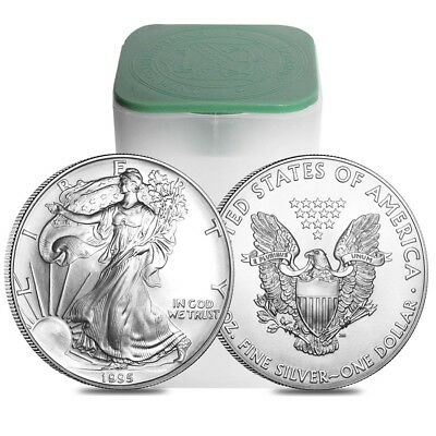 Roll of 20 - 1995 1 oz Silver Eagle Brilliant Uncirculated