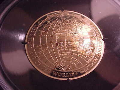 2018 Australia 1 Oz Gold $100 Domed Map of the World Proof Coin with Box