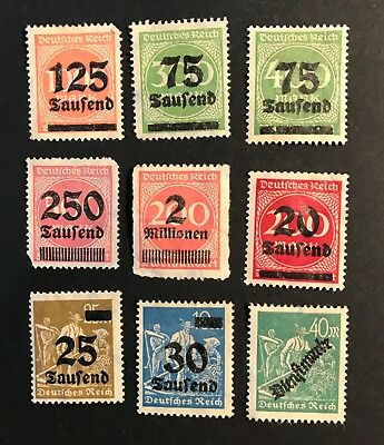 Germany postage stamps lot of 9  Saufend  old                JL