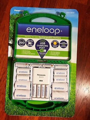 Panasonic Eneloop Rechargeable Batteries Kit w/ Charger 6 AA & 4 AAA - Brand New
