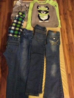 Girls Lot Of Jeans, Sweater, Justice, Arizona Size 7!!!