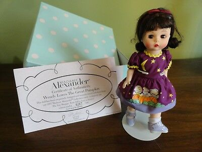 Madame Alexander Doll 47440 Wendy Loves The Great Pumpkin Halloween Lmtd Ed RARE