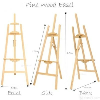 Artist Easels Display Stand Art Painting Canvas Tripod Decoration Menu H145cm
