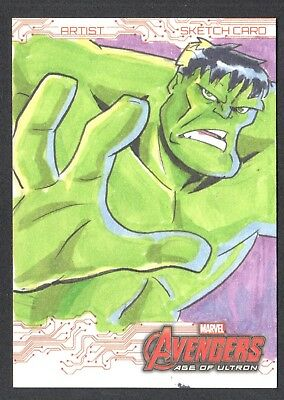 MARVEL AVENGERS AGE OF ULTRON Upper Deck SKETCH CARD by THIAGO VALE