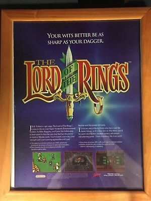 Vintage Interplay Lord Of The Rings Nintendo Video Game Add