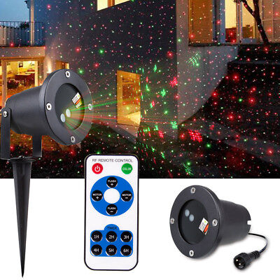 Christmas Laser Lighting Projector Landscape Garden House Lawn Xmas Party Light