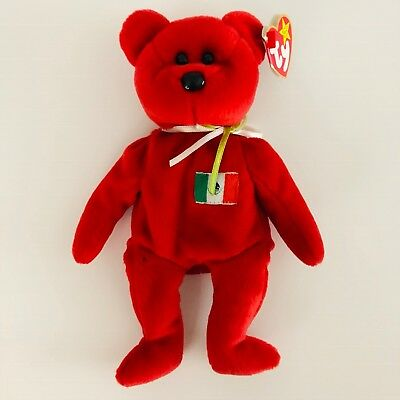 Ty Beanie Babies Collection Original Osito Red Born 2-5-1999 EUC (T2)