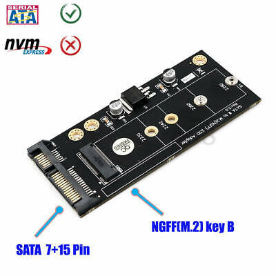 NGFF M.2 KEY B SSD to SATA3 Adapter with 3.5 HDD Cage