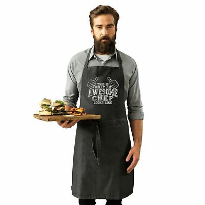 This Is What An Awesome Chef Looks Like Funny BBQ Adult Kitchen Cooking APRON