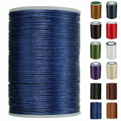 1X 0.8mm*90m Leather Craft Sewing Hand Round Waxed Wax String Thread Repair Cord