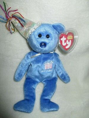 TY Beanie Baby - SEPTEMBER the Teddy Birthday Bear