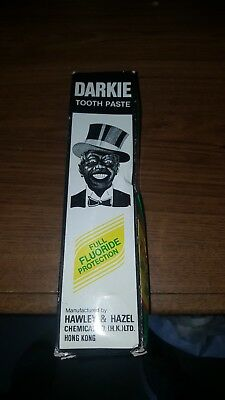 Vintage 1933 Darkie Toothpaste with Box w/contents medium Size Black Americana