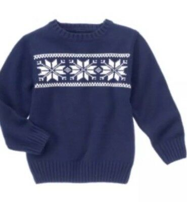 Gymboree Festive Celebrations Winter Holiday  Snowflake Sweater NWT 5-6 Years