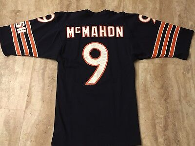 Vintage Jim Mcmahon Chicago Bears Sand Knit Jersey  1985 Men's Small Rare 80's