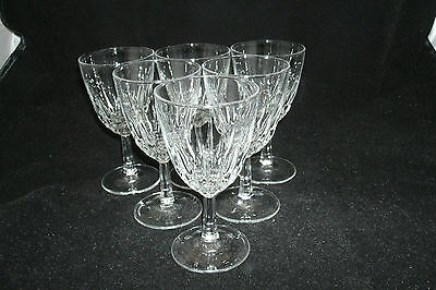 """Luminarc Cristal d'Arques Durand DIAMANT Clear Set of 6-5""""  Wine Glases Goblets"""