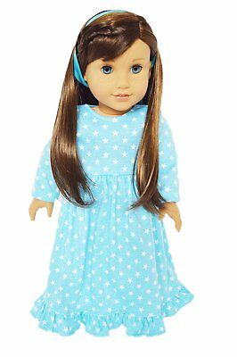 Blue Star Nightgown Fits 18 Inch American Girl Doll Clothes