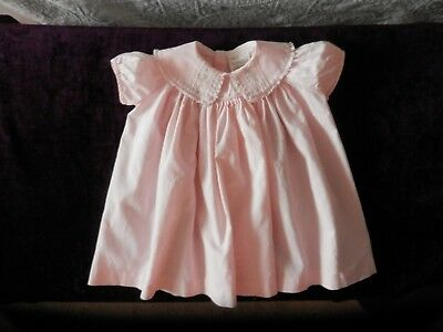 Vintage Baby Girl Honeysuckle For Sears Robuck & Co  Pink & Embroider Dress