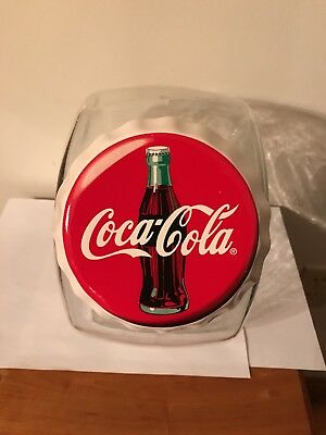 Coca Cola Anchor Hocking Glass Canister,Cookie Jar.Candy Vintage  Rare!