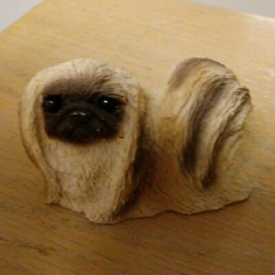 Stone Critter Littles Resin Pekingese Figurine - Very Good Condition