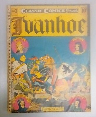 Ivanhoe Classic Illustrated Comics #2 1St Edition 1941 Golden Age Low Grade Rare