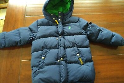 Polo Ralph Lauren Boys Size 5 Ripstop Down Jacket - Navy Blue