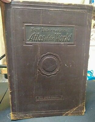 New International Atlas of the World - 1925 - Hardcover