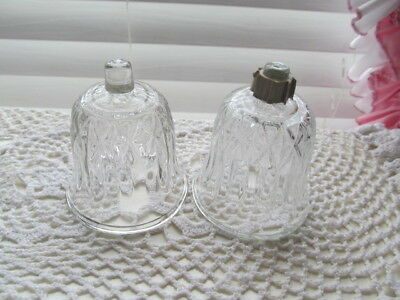 Home Interior / Homco Set Of 2 Clear Valencia Votive Cups / Candle Holders