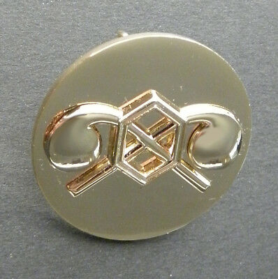 Us Army Chemical Corps Cnrn Gold Colored Lapel Hat Pin Badge 1 Inch