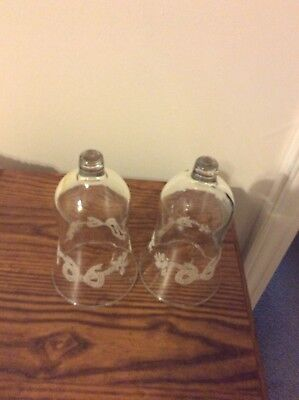 Home Interior / Homco Set Of 2 Bow With Berries Votive Cups / Candle Holders