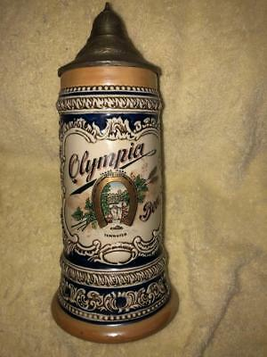 "Olympia Limited Edition 9"" Lidded Beer Stein - ZAP - California"