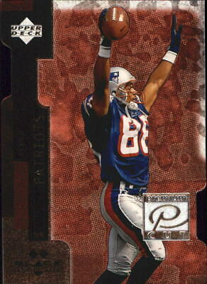 1998 Black Diamond Premium Cut Double Patriots Football Card #PC26 Terry Glenn