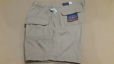 47471904cc6b Mens Big & Tall Relaxed Fit Cotton Cargo Shorts - KHAKI - Waist Size 48