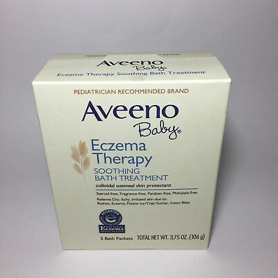 Aveeno Baby Eczema Therapy Soothing Bath Treatment, 5 ct packets Exp 02/2020