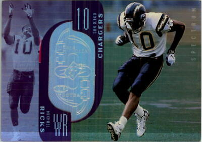 1998 SPx Finite Spectrum Chargers Football Card #264 Mikhael Ricks /325