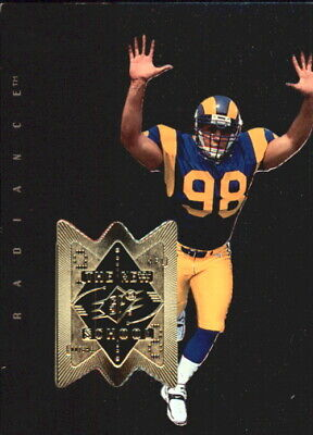 1998 SPx Finite Radiance St. Louis Rams Football Card #334 Grant Wistrom NS/2000