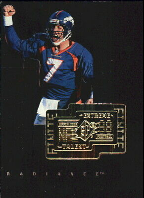 1998 SPx Finite Radiance Denver Broncos Football Card #281 John Elway ET /3600